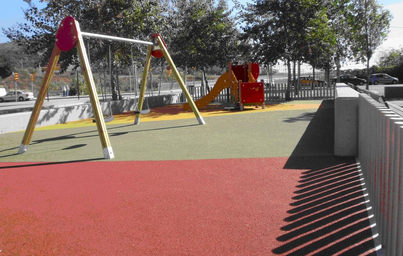 r novation des aires de jeux pour enfants de nou barris sorigu. Black Bedroom Furniture Sets. Home Design Ideas